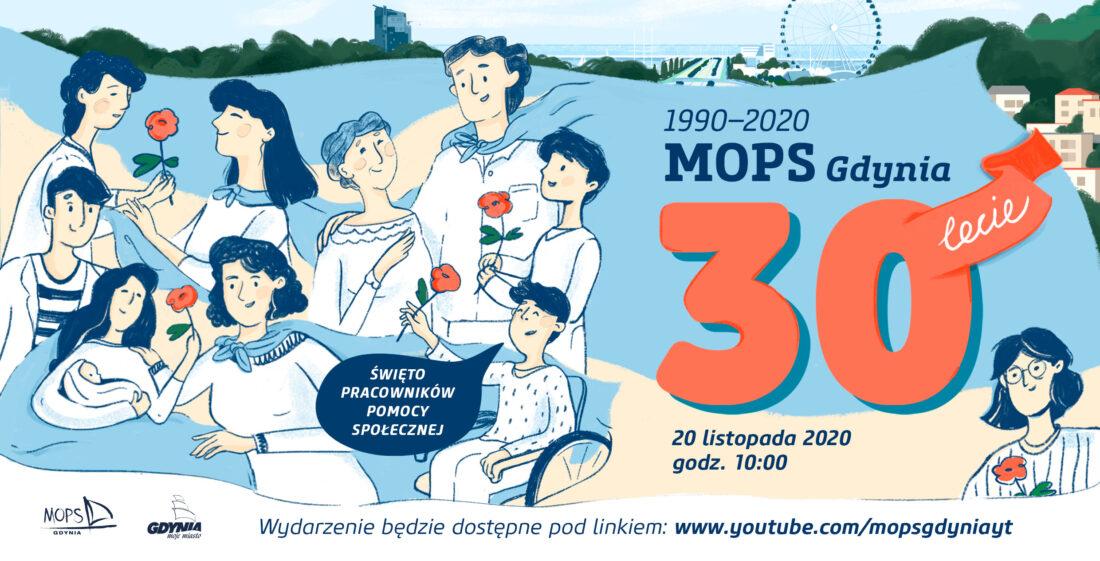 Zdjęcie: Plansza tytułowa 30-lecia MOPS