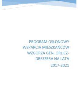 Program osłonowy wsparcia mieszkańców Wzgórza gen. Orlicz-Dreszera w latach 2017–2021