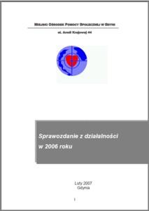 Pomoc społeczna w Gdyni – sprawozdanie z działalności MOPS za rok 2006