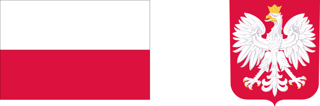 Zdjęcie: Barwy Rzeczypospolitej Polskiej i wizerunek godła Rzeczypospolitej Polskiej