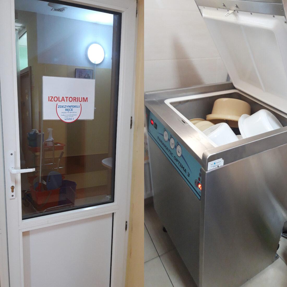 Zdjęcie: Strefa izolatorium, myjnie dezynfekcyjne w GOW Bosmańska 32A